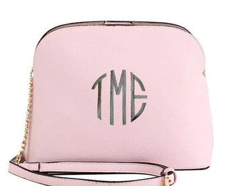 Monogrammed Cross Body Purse| Personalized Handbag | Personalized Handbag |Personalized Bridesmaid Gift | Mother's Day Gift | Preppy Purse