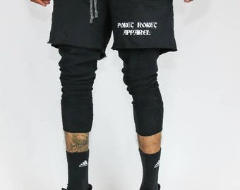 TWO TONE | Black | Shorts | Skinny Fit | Leggings