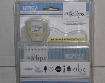 Sizzix ECLIPS Birthday and Bean Pole Design Font Cartridge New Sealed Scrapbook tool