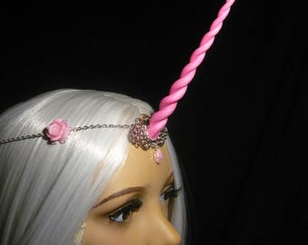 Roseblossom Unicorn - Tiara with handsculpted pearlescent horn