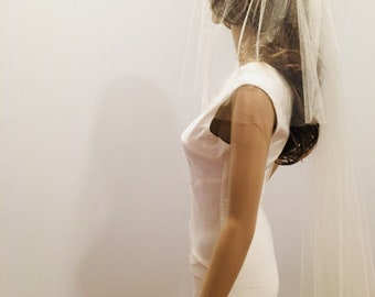 Wedding veil, cathedral veil , appliqué lace veil