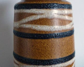 West German 1960s Vintage Retro Scheurich Pottery Vase 242-22