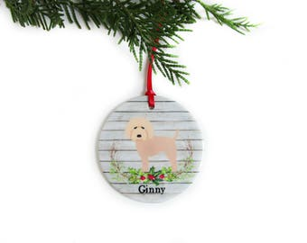 Labradoodle Christmas Ornament - Personalized Dog Ornament - Labradoodle Gifts - Doodle Dog Pet Gifts - Dog Lover Gift - 6 Dog Color Choices