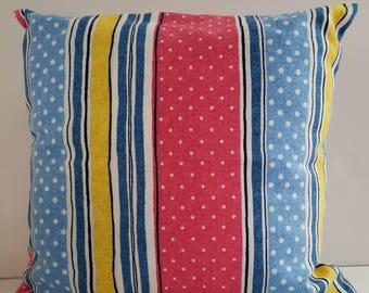 Striped pillow cover/ 14 inch pillow cover/patio pillow covers/polka dot pillow /decorative pillows/throw pillow cover/toss pillows