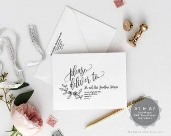 a7 envelope template