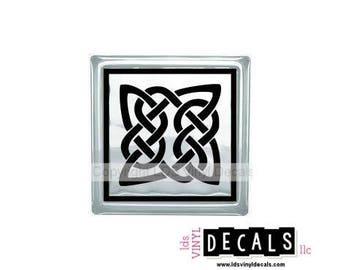 Celtic Knot (Square)  - St. Patrick's Day Vinyl Lettering for Glass Blocks - Irish Craft Decals