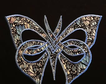 Blue Butterfly Embroidered T-shirt