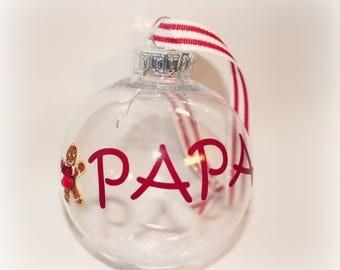 Christmas Ornament, Papa Ornament, Papa Gift, Grandpa Ornament, Pop Pop Gift, Papaw, Custom Ornament, Personalized Ornament, Name Ornament,