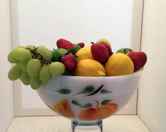 Beautiful Vintage Fire King Gay Fad 9 inch Mixing Bowl - Excellent Condition - No Paint Loss!