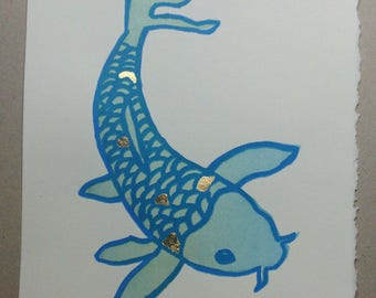 Koi Fish Silkscreen Print 6 of 15
