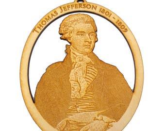Thomas Jefferson Ornament - Americana Decor - Americana Gifts - Personalized Free