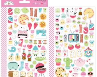 Valentines So Punny  Mini Icons  Stickers  by Doodlebug Design