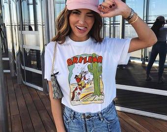 Vintage Style Sharpshooter Tee / arizona t shirt / cactus tshirt / souvenir southwest shirt