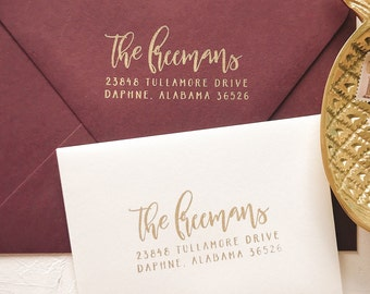 Calligraphy Wedding Invite Stamp, Gift for Her