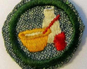 "Vintage Intermediate Girl Scout Badge ""Cook"" circa late 1930's-40's/ON SALE!"