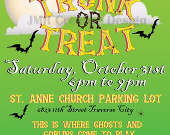 Trunk or Treat Flyer Design, Trunk or Treat