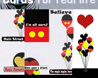SALE! Use coupon. Only .49! House of Mouse, 3x4 cards and clip art. Plus freebies!