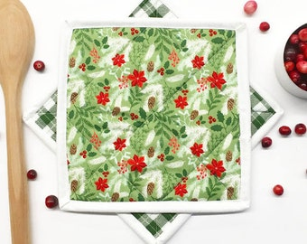 Christmas Hot Pad. Hot Pads. Set of 2. Neighbor Gift. Hostess Gift. Christmas Pot Holder. Pot Holder. Christmas Kitchen. Kitchen Decor