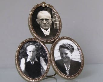 Photo frame for three pictures of the format 2.36 inch x 1.57 inch.
