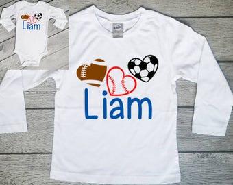 Personalized Valentine shirt - Boy Valentine Shirt - Personalized Boy Shirt - Valentines shirt - Toddler Valentine Shirt - Baby Valentine