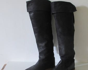 FRYE black leather over the knees Boots Women 6 US