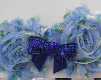 Blue Floral Print Headband