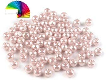 50 g Imitation Pearl Beads Ø6 mm