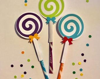 Candyland Birthday Party Favors Pixie Stix Sweet Shoppe Candy Shop Theme Lollipops