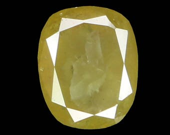 0.64 Ct Natural Loose Diamond Cushion Yellow Color 5.62X4.60X2.82 MM K3178