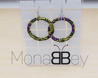 African fabric hoop earrings, ankara fabric, boucles d'oreilles africains, bijoux africains, boucles d'oreilles afro, gift for women