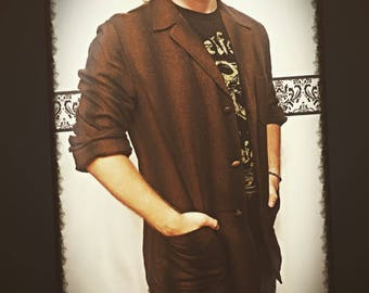 1960's Men's Pendleton Brown Flannel Blazer Size Large , Vintage Men's 60's Pendleton Brown Flannel Shirt, 60's Hipster Grunge Pendleton