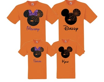 Halloween Family Mickey Minnie Shirts, Halloween, Matching Vacation Shirts, Disney Shirts Vacation, Mickey Head Shirts, Pumpkin, fall
