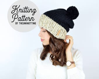 PATTERN // The Sol Duc Hat // Chunky Knit Beanie Pattern