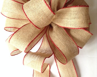 Burlap tree topper etsy for Burlap ribbon on tree