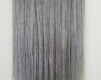 Grey hair extensions etsy 20 200g magic halo miracle wire human hair extensionssilver pmusecretfo Choice Image