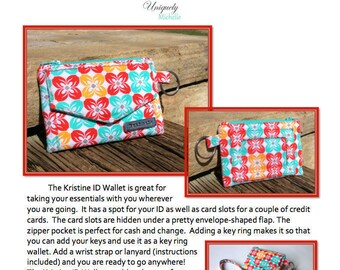 The Kristine ID Wallet PDF Pattern