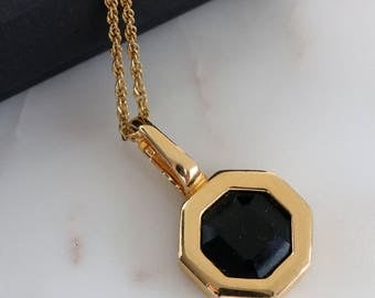 necklaces in back pendants w men oct h yellow octagon s ritani engraveable pendant and gold