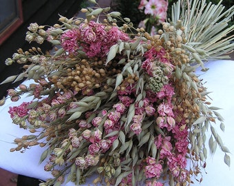 Bridal Dried Bouquet Wedding Rustic Valentines Flowers Mothers
