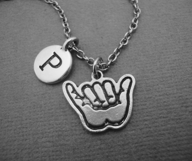 Shaka necklace hang loose necklace personalized shaka bangle shaka necklace hang loose necklace personalized shaka bangle bracelet hawaiian hand symbol necklace buycottarizona Gallery