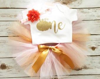 First Birthday Outfit Girl - Pumpkin Birthday - Pumpkin First Birthday - Little Pumpkin - Fall First Birthday - 1st Birthday - Smash Cake