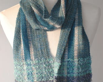 Blue#2 Handwoven Scarf