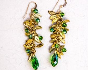Mira Earrings - Forrest Green