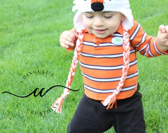 Crochet Fox Hat Baby Girl Baby Boy Fox Hat Newborn Fox  Beanie Fox Hat Fox Photo Prop Toddler Fox Hat