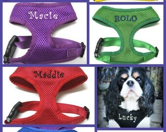 Personalized Dog Harness Custom Embroidered with Name