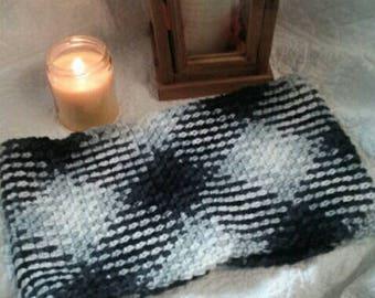 Argyle Crochet Cowl, Handmade Crochet Cowl