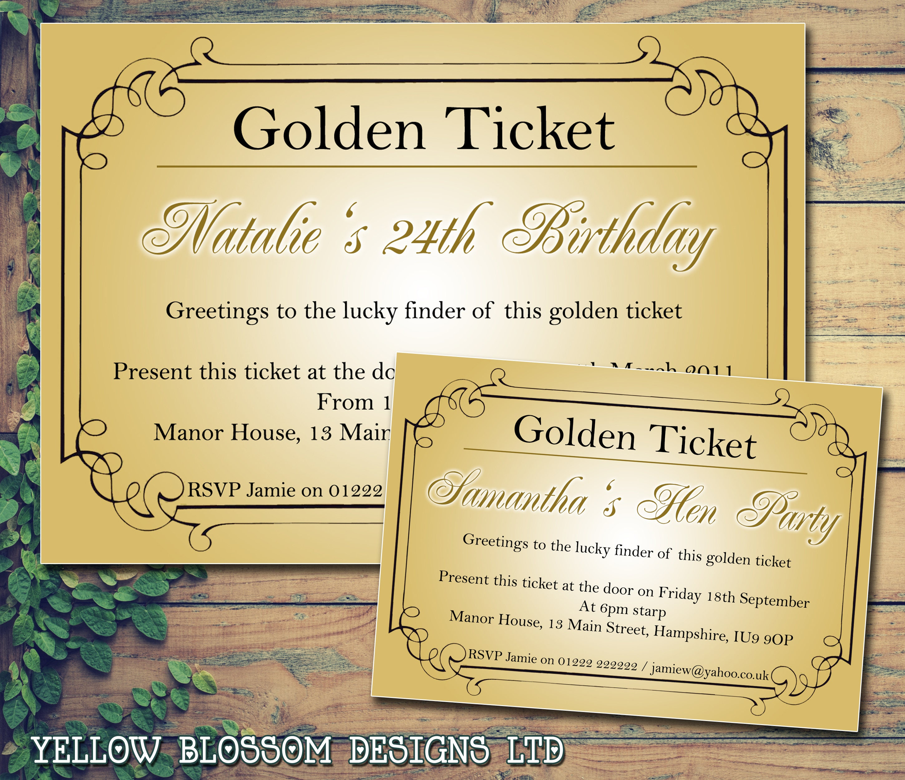 10 Personalised Birthday Party Celebration Invitations Printed Adult