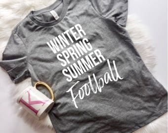 Winter Spring Summer Football, Sundays are for football, Football Shirt, Tailgate Shirt, Jesus and Football, Stocking Stuffer
