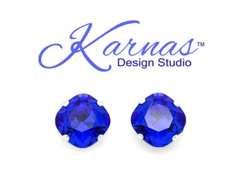 New Colors SPRING/SUMMER 2019 12mm Cushion Cut Earrings 4 COLORS Swarovski *Pick Style, Finish, & Color *Karnas Design Studio™ Free Shipping