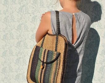 Woven bag, woven market bag, straw bag, straw shopper, hemp bag, hemp shopper, boho bag, boho woven bag, woven beach bag, blue woven bag