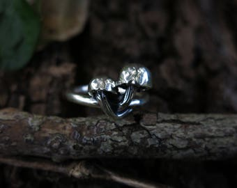 Mushroom Patch Sterling Silver Ring